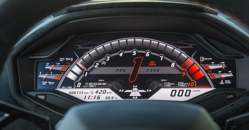 Lamborghini Huracan cluster