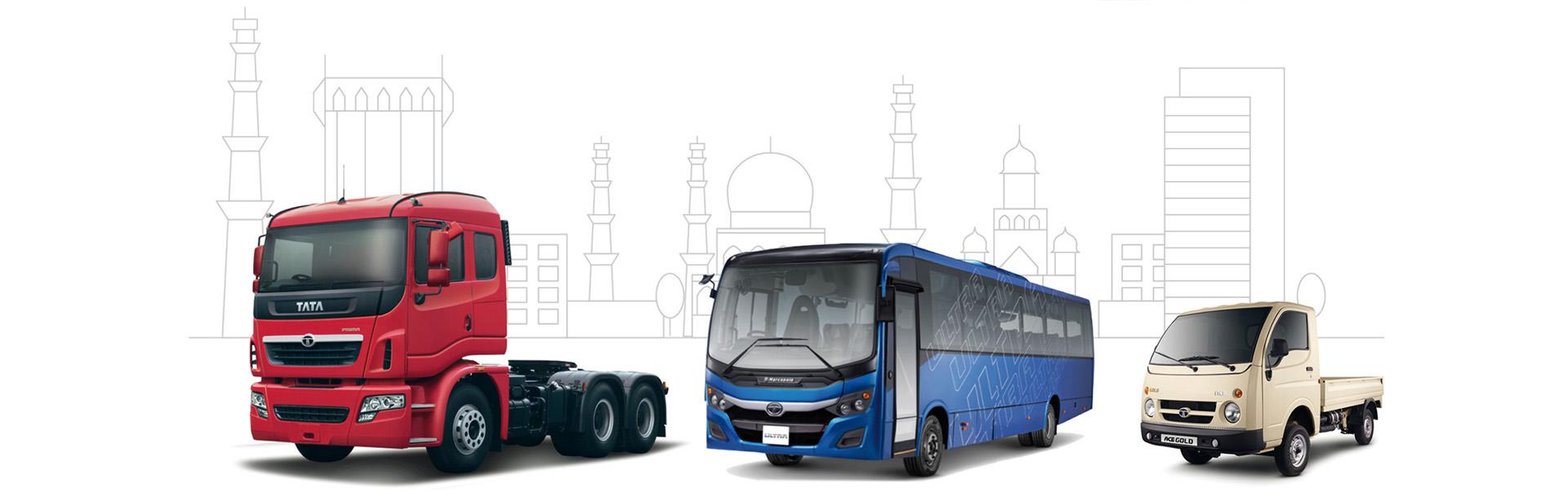 Tata bus and trucks
